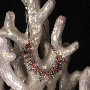 Cute multi colored beaded necklace